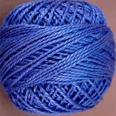 210 Sapphire  Pearl Cotton size 8  Valdani Solid color q.ty stock 4