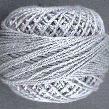 118 Pearl Gray  Pearl Cotton size 8  Valdani Solid color q6