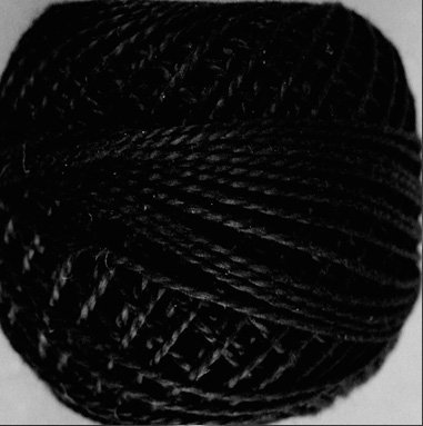 1 Black  Pearl Cotton size 8  Valdani Solid color q6