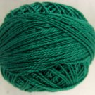 1252 Rich Green dark Cotton size 12  Valdani Solid color q2