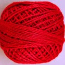 76 Christmas Red  Pearl Cotton size 8  Valdani Solid color q3