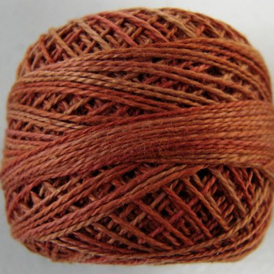 O506 Cinnamon Swirl Pearl Cotton size 8 0506 Valdani Overdyed q2