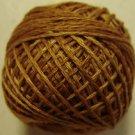 O571 Tea Honey Pearl Cotton size 8 0571 Valdani Overdyed q1