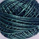 O572 Blue Blackbird Pearl Cotton size 8  Valdani 0572 Overdyed q4