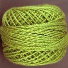 19 Deep Lime  Pearl Cotton size 8  Valdani Solid color q6
