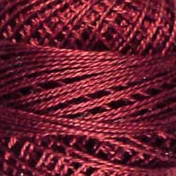 78 Rusty Burgundy  Pearl Cotton size 12  Valdani Solid color q5