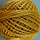 154 Deep Antique Gold  Pearl Cotton size 8  Valdani Solid color q4