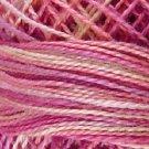 V107 Delicate Rose Pearl Cotton size 12  Valdani Variegated q2