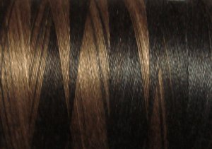 O531 Black Nut 35wt 500m Valdani Overdyed Thread 0531 q2