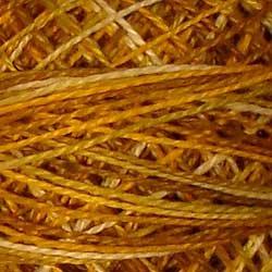 V106 Antique Gold Pearl Cotton size 12  Valdani Variegated q6