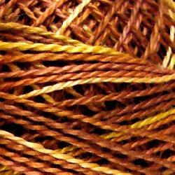 V4 Golden Browns Pearl Cotton size 12  Valdani Variegated q6