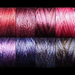 Silk perlé Au Ver à Soie by VALDANI - Luxury Purples collection 8 spools