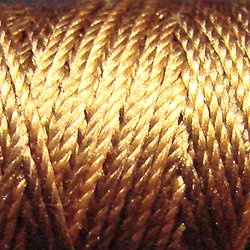 S154 Antique Gold - Silk perlé Au Ver à Soie by VALDANI 20m spool q1