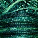 O550 Caribbean Blue Pearl Cotton size 8  Valdani Overdyed 0550 q1