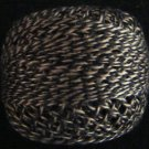 PT11 Black Ecru Twisted Tweed Valdani - Pearl Cotton size 12 q4