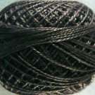8123 Brown Black dark Perle cotton size 8  Valdani As Time Goes By q5
