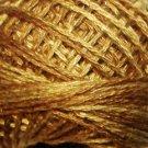 O154 Dark Antique Golds Pearl Cotton size 12  Valdani Overdyed 0154 q6