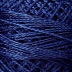 O515 Midnight Blue  Pearl Cotton size 12  Valdani Overdyed 0515 q6