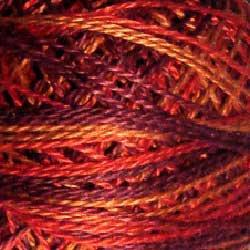 O533 0533 Golden Autumn  Pearl Cotton size 12  Valdani Overdyed q6