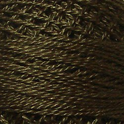 200 Dark Chocolate - Pearl Cotton size 12 - Valdani Solid color q1