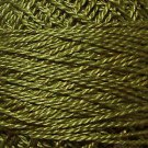 190 Rich Olive Green medium - Pearl Cotton size 12 - Valdani Solid color q1