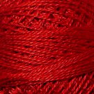 76 Christmas Red - Pearl Cotton size 12 - Valdani Solid color q4