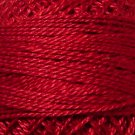 775 Backyard Turkey Red  Pearl Cotton size 8  Valdani Solid color q5
