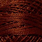1643 Red Brown Medium Pearl Cotton size 8  Valdani Solid color q5