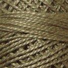 180 Olive Stone Medium  Pearl Cotton size 8  Valdani Solid color q6