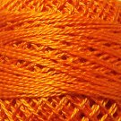 204 Bright Orange Coral - Pearl Cotton size 12 - Valdani Solid color q5