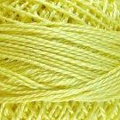 10 Lemon Pearl Cotton size 12  Valdani Solid color q6
