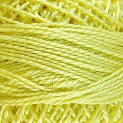 10 Lemon Pearl Cotton size 12  Valdani Solid color q5