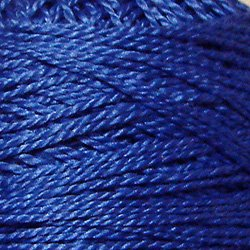 210 Sapphire  Pearl Cotton size 12  Valdani Solid color q4