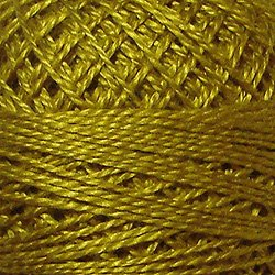 152 Gold  Pearl Cotton size 12  Valdani Solid color q6