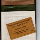 "Four squares Weavers Cloth assorted drk colors 10"" x 10"" for punchneedle"