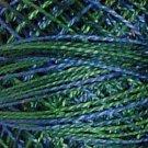 V15 - Algae Pearl Cotton size 12 Valdani Variegated  Vibrant q6