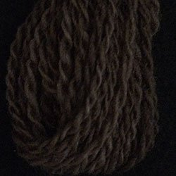 W7 Dark Chocolate Valdani Wool 10 yds skein size 8 (13.5/2)