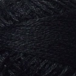 1 Black Three Strand Floss Valdani 29yd free ship US q6