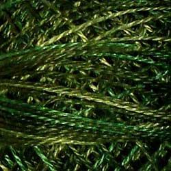 O526 Green Pastures Pearl Cotton size 12  Valdani Overdyed 0526 q6