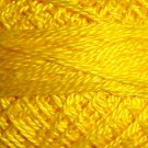 1310 Bright Yellow - Pearl Cotton size 12 - Valdani Solid color q3
