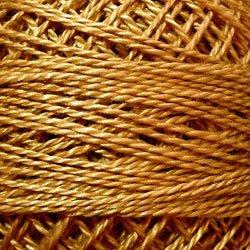 852 Antique Gold Medium Pearl Cotton size 8  Valdani Solid color q6