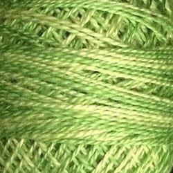 O19 Spring Greens Cotton size 8  Valdani Overdyed color 019 q6