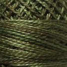 O1901  Lichen Moss Pearl Cotton size 8  Valdani Overdyed 01901 q6