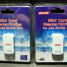 Lot of 2 DigiPower Mini Reader/Writer for mini SD/MS Duo 5 in 1