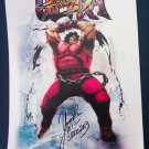 SDCC 2013 Street Fighter IV Ultra Character Promo Poster (Autographed)