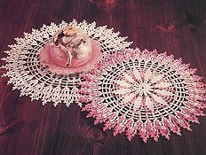 Cathedral Window Doily Set of 2