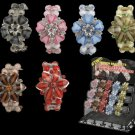 Rosa - Acrylic Stone Flower Stretch Bracelets with Free Display - 1 Package of 36