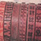 Assorted Burn Design Leather Bracelets with Free Display - 1 Package of 72