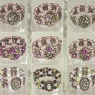 - Victorian Beaded Crystal Bracelets - 1 Package of 12