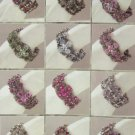 - Victorian Flower Design Crystal Bracelets - 1 Package of 12